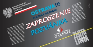 Zaproszenie - Złota Linia w Czechach w Galerii Śląskoostrawskiej w Ostrawie - czerwiec 2015